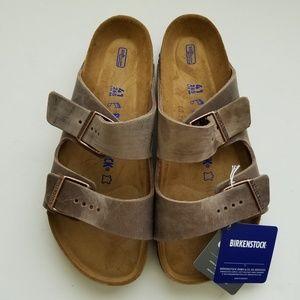 Birkenstock Arizona Tobacco Leather Sandals 41